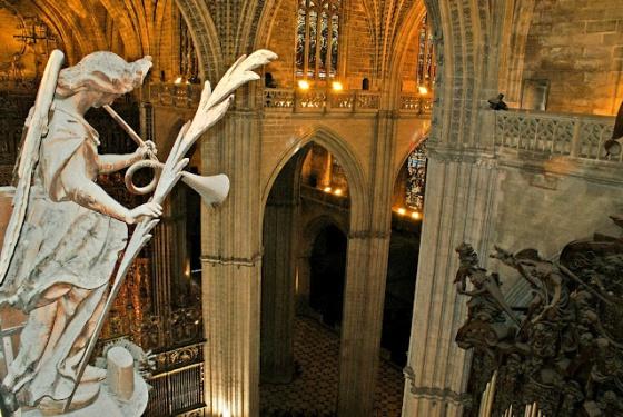 La catedral de sevilla vista desde arriba porturismo - Catedral de sevilla interior ...