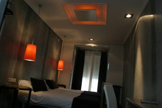 Habitación del hotel Abalú, en Madrid.