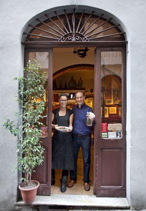 Entrada del restaurante Alfredo e Ada.