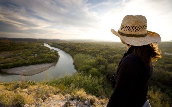 Panorámica del río Grande, en el parque nacional Big Bend, Tejas.