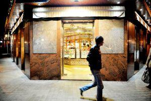 Entrada de la panadería Rovier, en la calle Ercilla, 11.