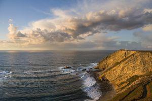 Atardecer en el cabo Vidío, en el Paisaje Protegido de la Costa Occidental de Asturias.