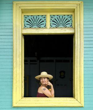 Casa colonial en San Juan del Sur, en la costa de Nicaragua.