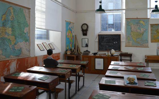 El edificio del Museo de Frank McCourt fue una escuela en la que estudió un unos años el novelista.