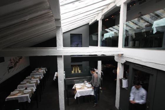 Comedor del restaurante NO, en Madrid.