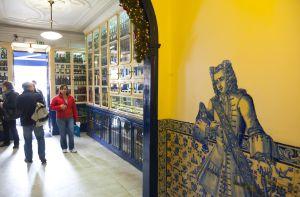 Interior de Pastéis de Belém, en el barrio del mismo nombre en Lisboa.