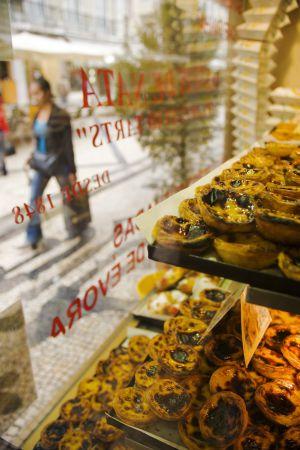 Pasteles en Casa Brasileira, en Lisboa.