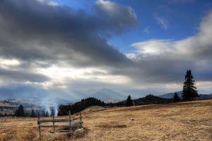 Panorámica del paso de Tihuta, en el valle del Borgo.