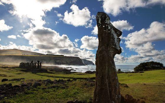 Los misteriosos moáis de la isla de Pascua, Chile.