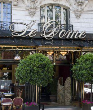 Café Le Dome, en Montparnasse, París.