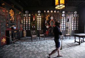 Interior de la Maison de Victor Hugo, en la Place des Vosges de París.