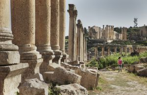 Ruinas de la antigua ciudad de Jerash, en Jordania.