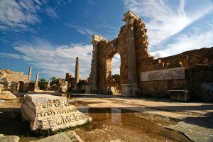 Yacimiento romano de Leptis Magna, en Libia.