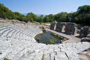 Ruinas romanas de Butrint, en Albania, declaradas Patrimonio mundial por la Unesco.