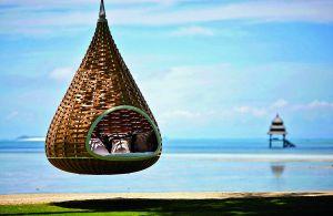 Una hamaca en el Dedon Island Resort, en la remota isla filipina de Dedon.
