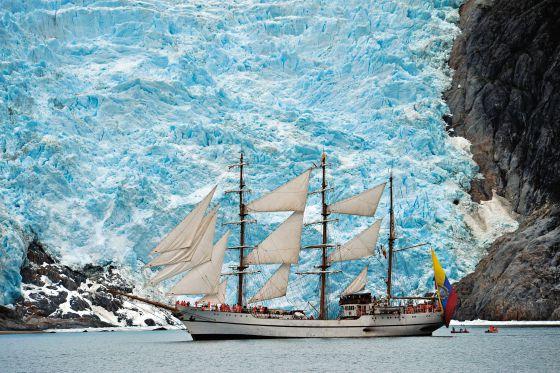 Glaciares azul berilo