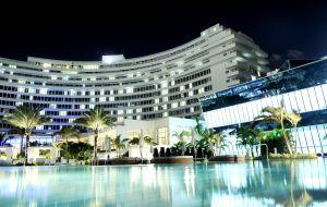 Hotel Fontainebleau, obra de 1954 do arquiteto Morris Lapidus.