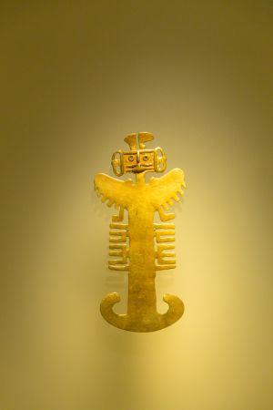 Figura en el Museo del Oro de Bogotá.