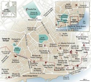 Mapa de Lisboa.