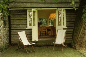 La cabaña en la que escribía Virginia Woolf en Monk's House (Inglaterra).