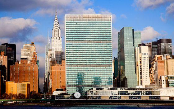 Edificio de las Naciones Unidas y el Chrysler Building, en Nueva York.
