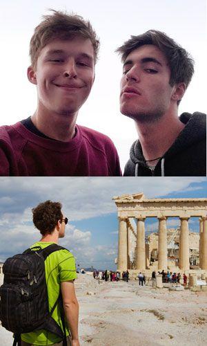 A Acrópole de Atenas (Grécia).