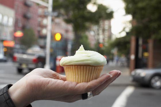 Un 'cupcake' de Magnolia Bakery, en Nueva York.