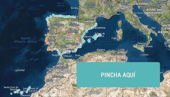 300 playas de España y Portugal