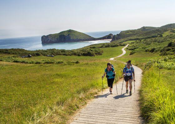 El Camino de la Costa a su paso por Asturias.