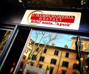 Entrada a la L'Hamburgeria di Eataly, en Roma.