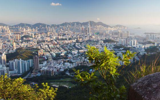 Vistas de Hong Kong desde Lion Rock, en Kowloon