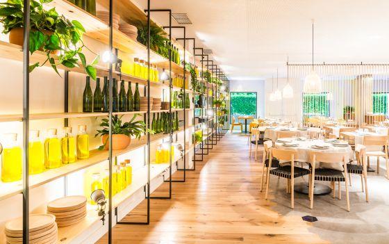 Comedor del restaurante Atrapallada, en Madrid