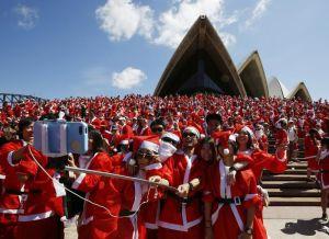 Navidad en Sídney (Australia).