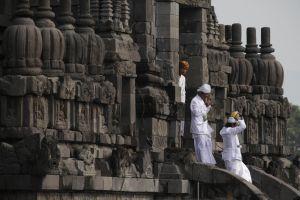 Celebração do Nyepi, tradicional Dia do Silêncio balinês, na Indonésia.