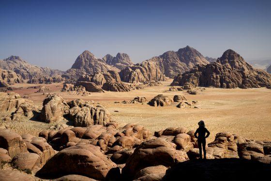 Desierto de Wadi Rum, donde se rodó la película 'El marciano'.