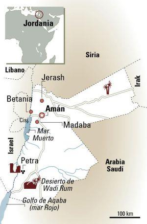 Las arenas del marciano en Jordania