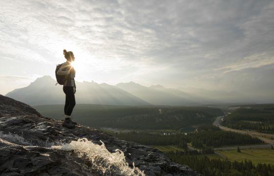 Un paisaje de las montañas Rocosas, en Canadá.