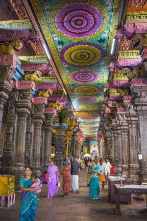 Templo de Sri Meenakshi, en Madurai (India).