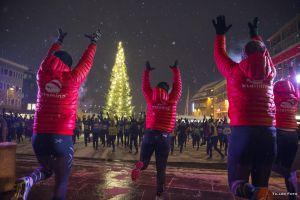 Actividades durante la Night Polar Half Marathon 2016 en Tromso (Noruega).