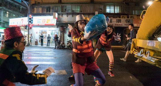 La fiesta de la basura en Taipéi