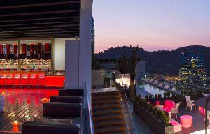 Red2One, terraza del Hotel W, en Santiago de Chile.