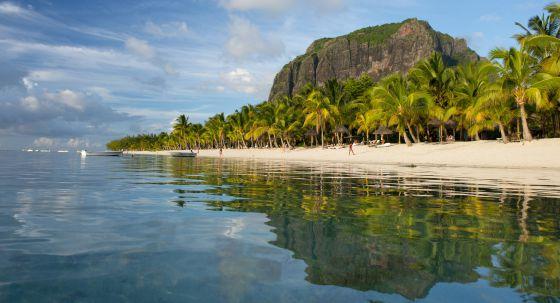 Playa en isla Mauricio.