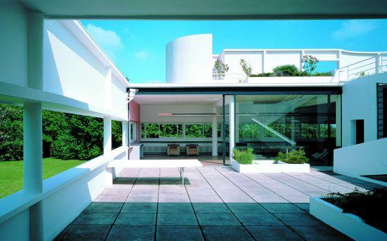 Villa Savoye, de Le Corbusier, en Poissy, Francia