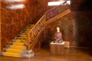 Escalera interior de Villa Necchi Campiglio, en Milán.
