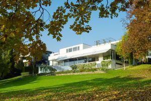 Jardín de Villa Tugendhat, de Mies van der Rohe, a las afueras de Brno (República Checa).