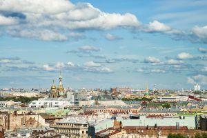 Vistas desde la cúpula de la catedral de San Isaac, en San Petersburgo.