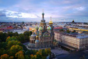 Vista de la iglesia del Salvador sobre la Sangre Derramada, en San Petersburgo.