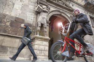 Una bicicleta del servicio público de alquiler de Zaragoza.