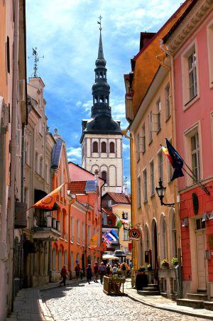 La ciudad medieval de Tallin, Estonia.
