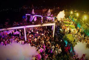 Terraza del Sky Bar, en Beirut.